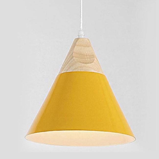 HONEY COMB 北歐原木極簡風單吊燈 黃色 TA8371