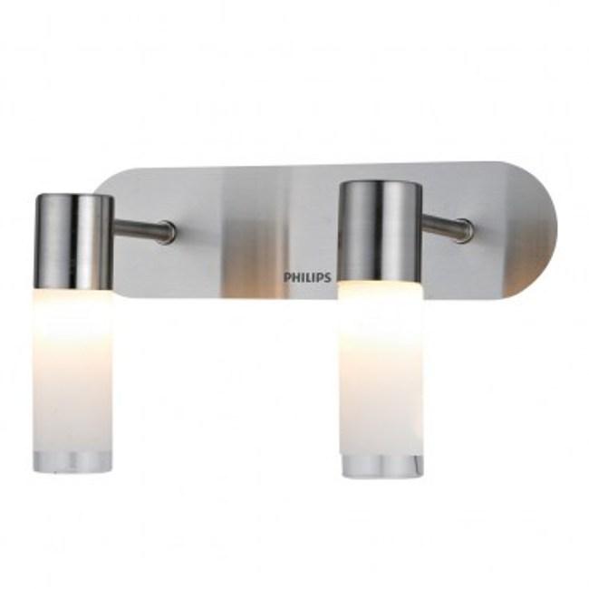 飛利浦衛浴系列蘆薈圓柱雙頭壁燈