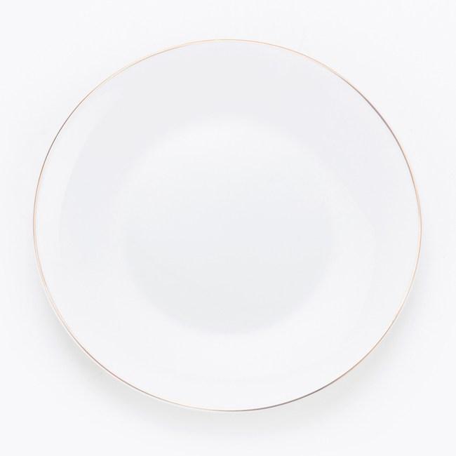 HOLA 緻金骨瓷平盤 16.5cm 線圈 可適用微波爐及洗碗機
