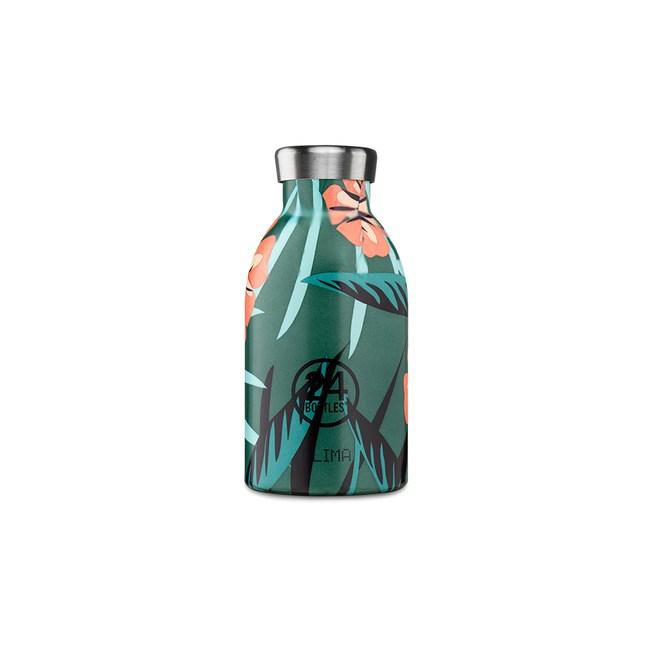 義大利 24Bottles 不鏽鋼雙層保溫瓶 330ml - 熱帶風情