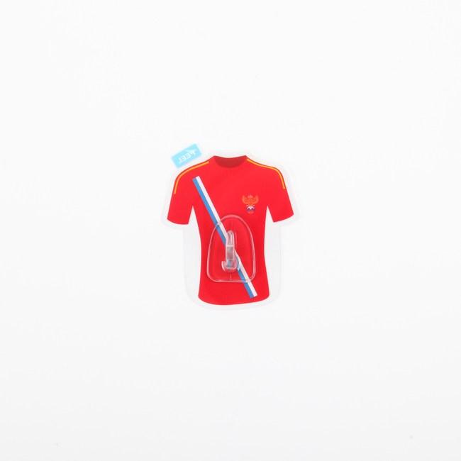 HOMMY黏貼式掛勾 紅色足球衣 單入