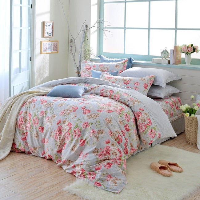 MONTAGUT-巴洛克風華-200織精梳棉鋪棉床罩組(雙人)