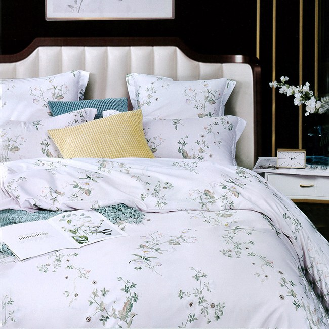 【Indian】新科技天絲雙人特大五件式床罩組-歲月靜語(吸濕排汗)6*7