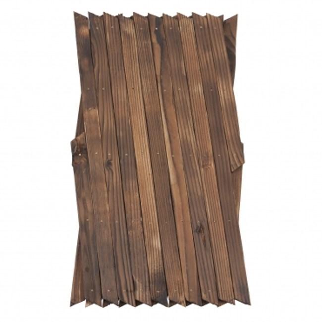 燻木伸縮籬笆 H47cm