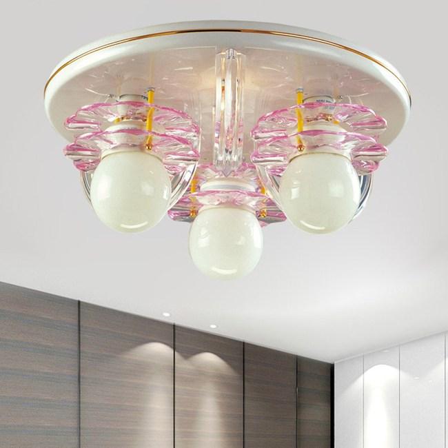 【光的魔法師 Magic Light】粉紅花片系列  粉紅花片吸頂三燈