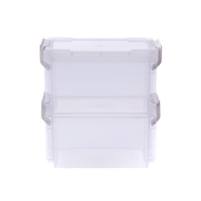 日本IRIS小物可堆疊收納盒2入