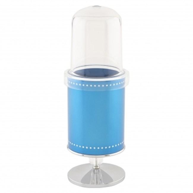 水鑽叉匙陳列架附蓋 藍色