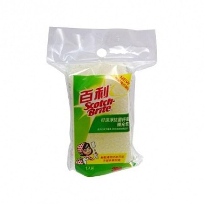 3M好潔淨抗菌杯刷補充海綿