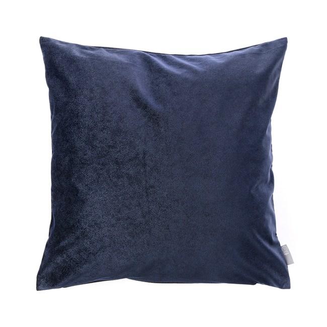 HOLA 素色星悅雙色抱枕50x50cm 深藍色