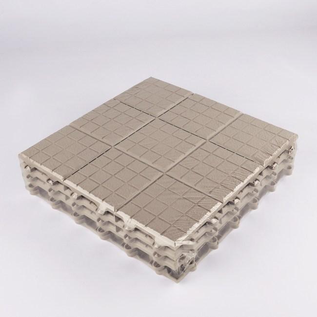 九格壓紋拼接地板30x30米-4入
