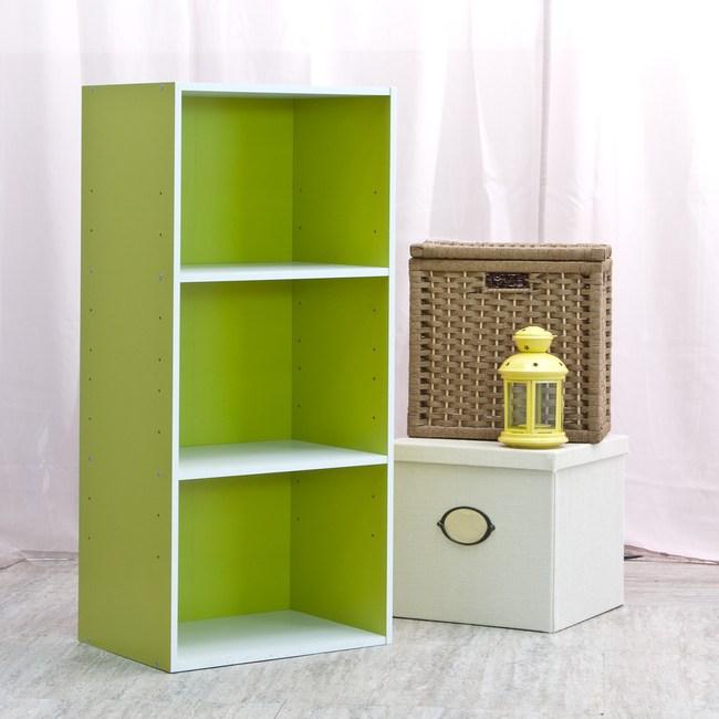 智慧生活三格櫃-綠