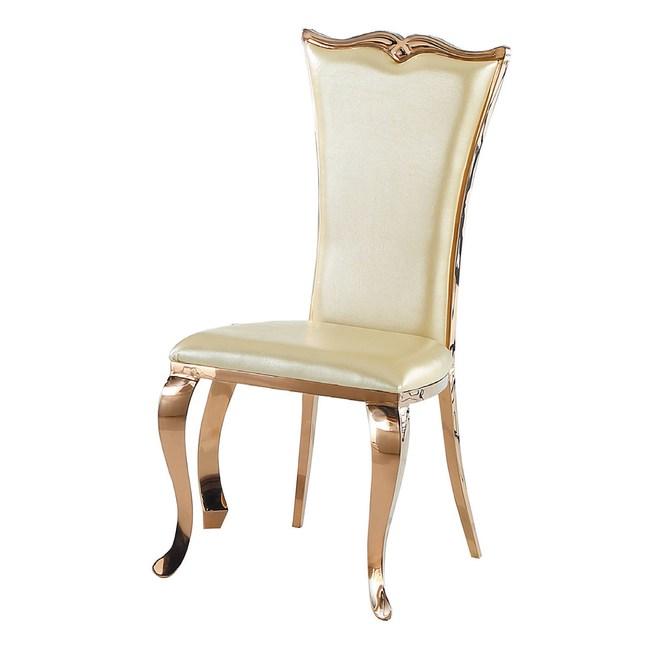 【YFS】愛麗絲米白色餐椅-49x49x104cm