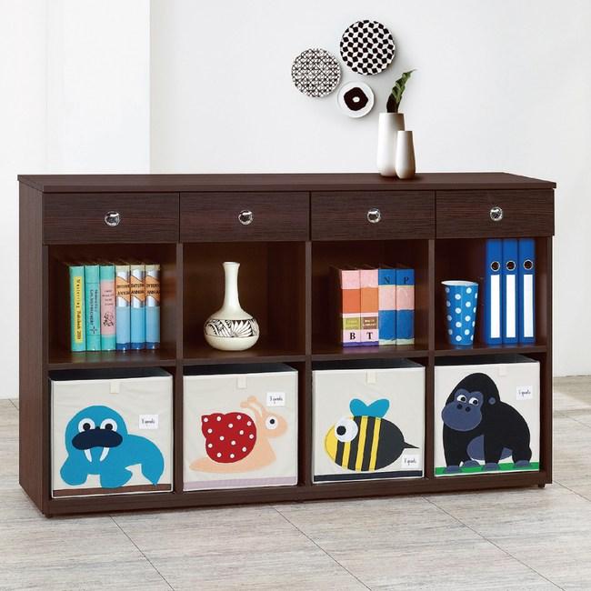 【YFS】里恩耐磨5尺多功能置物櫃兩色可選-151.5x37.5x90胡桃