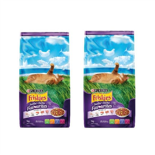 Friskies 喜躍海陸雙重滋味配方貓乾糧-3kgX2包