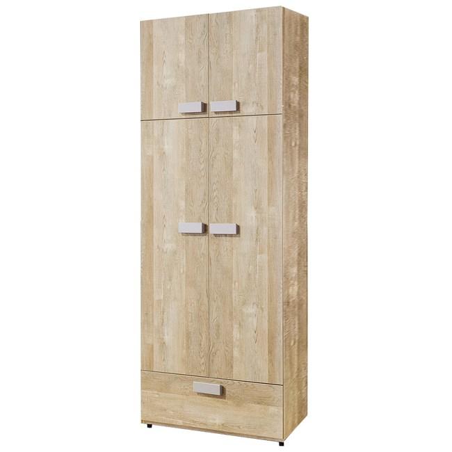 【YFS】沐尼夏原木2.5尺一抽衣櫥-75*59*202cm