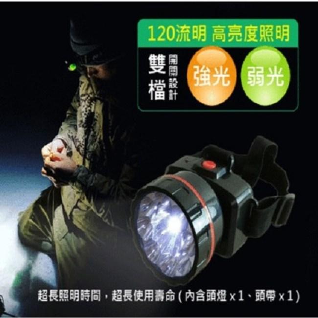 充電式CY-013 多燈LED頭燈1入