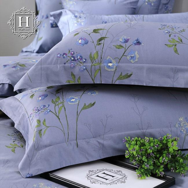 【HOYACASA】芙蘭妮特大300織長纖細棉被套床包組(配加大被套