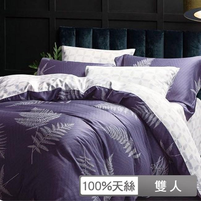 貝兒寢飾-裸睡系列60支天絲全鋪棉床包兩用被四件組-雙人/雅影