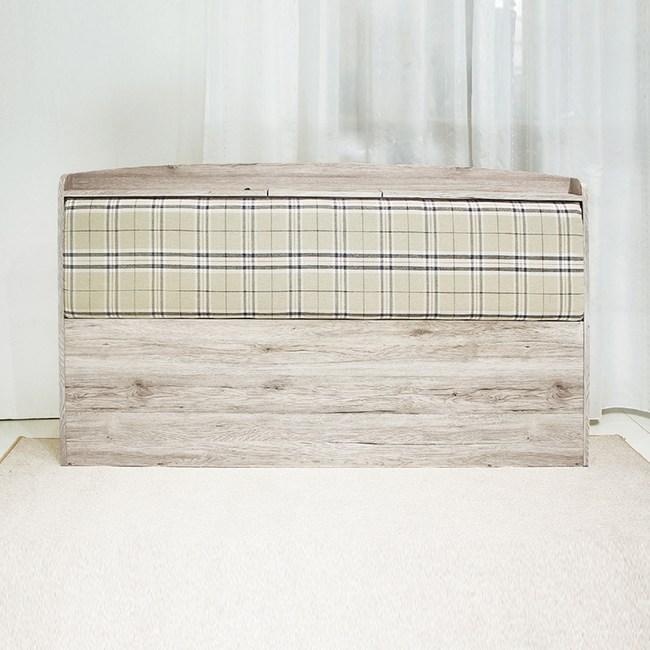 【YFS】法蘭克5尺浮雕木紋靠墊床頭片-158x15x95cm