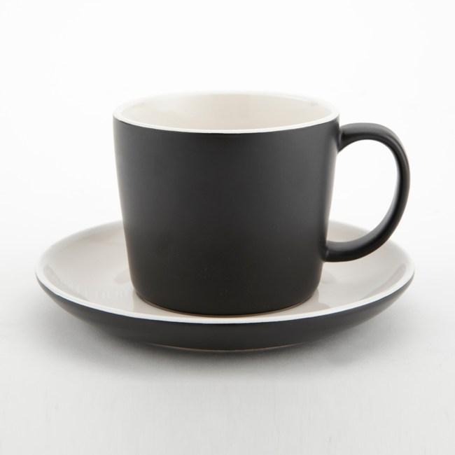 英國 La Cafetiere 簡約咖啡杯盤組 黑 Barcelona系列