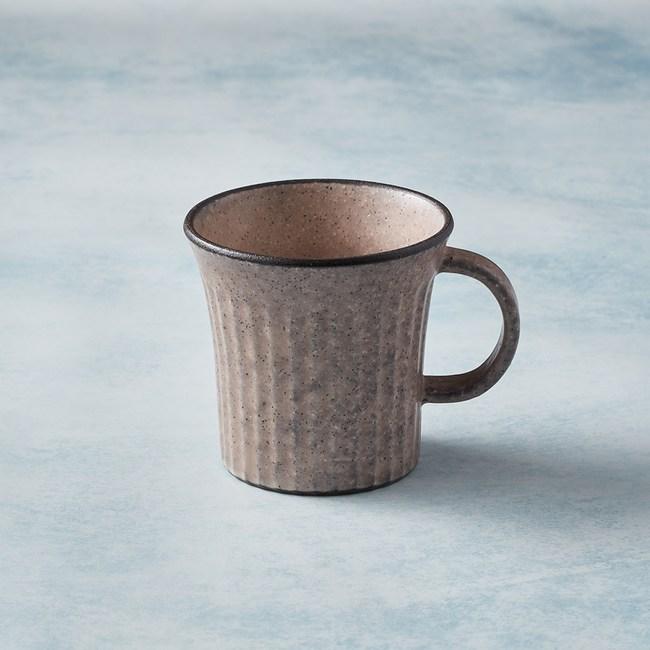 【有種創意】日本美濃燒 - 古典雕紋咖啡杯 - 唐茶紅