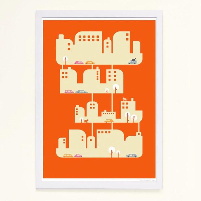 【摩達客】西班牙知名插畫家Judy Kaufmann藝術創作海報版畫掛畫裝飾畫-家屋