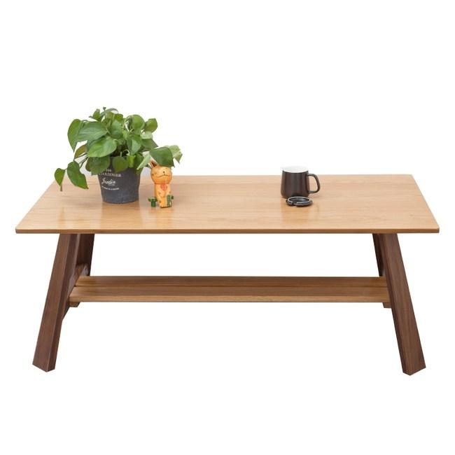 原木日式白橡木實木雙色1.2M茶几w0992