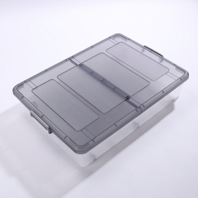 KEYWAY 大雙面掀蓋整理箱 (底部滑輪附屬) 52L K037-1 80.3x58x16.2cm