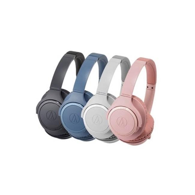 【送收納袋】鐵三角 ATH-SR30BT 藍 輕量化 無線藍牙耳罩式耳機