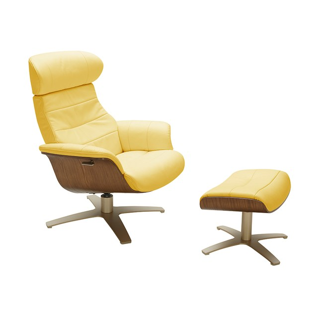 A928單椅+腳凳 黃色 NL5118 C+O