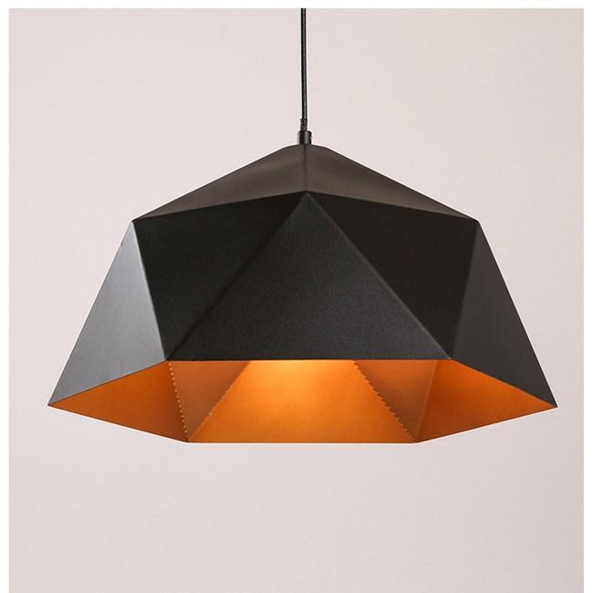 【Honey Comb】北歐簡約餐廳單吊燈黑色(GM-1240)
