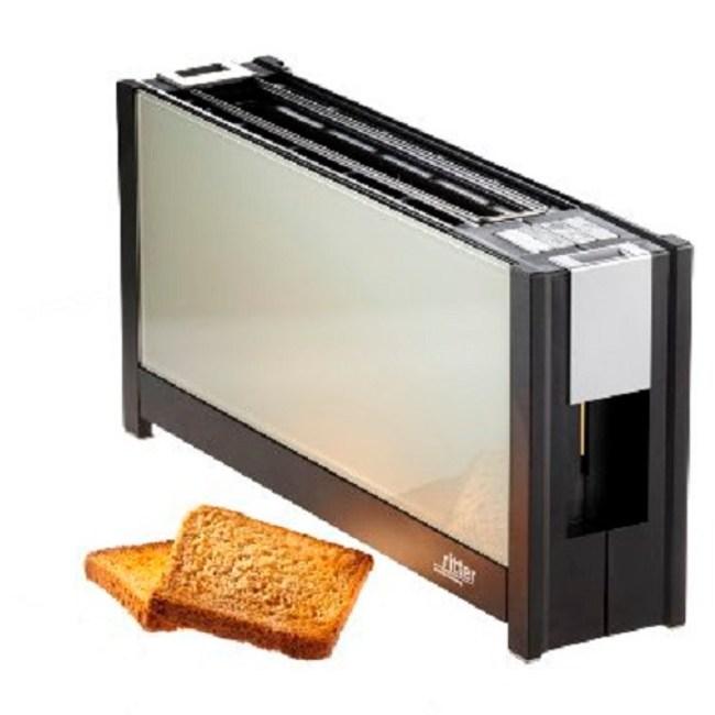 德國原裝 ritter volcano 5 晶湛強化玻璃烤麵包美型機 (白)