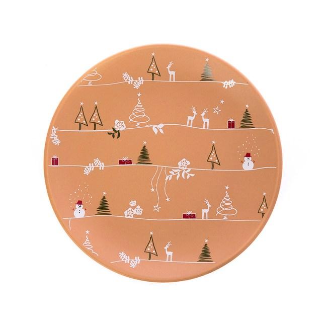 迷鹿森林圓盤19cm 米黃