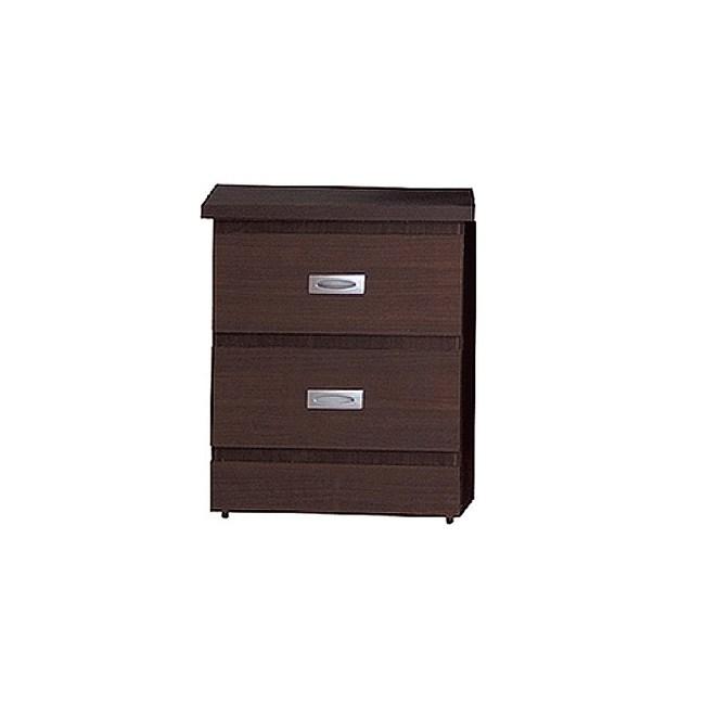 【YFS】奧斯頓胡桃色床頭櫃-46.5x41.2x55.5cm