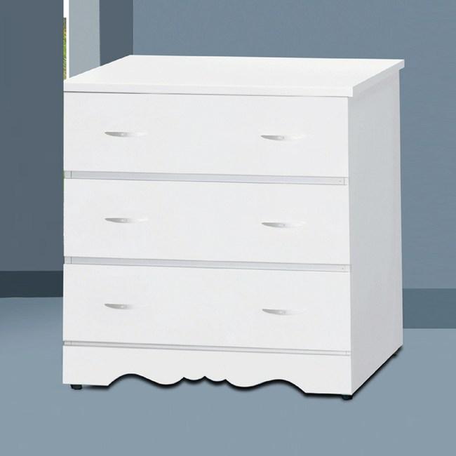 【YFS】卡蜜拉白色三斗櫃-76x57x80cm
