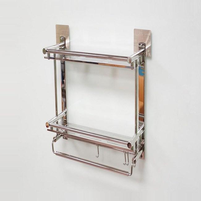 豪享貼雙層鋼片平台置物架