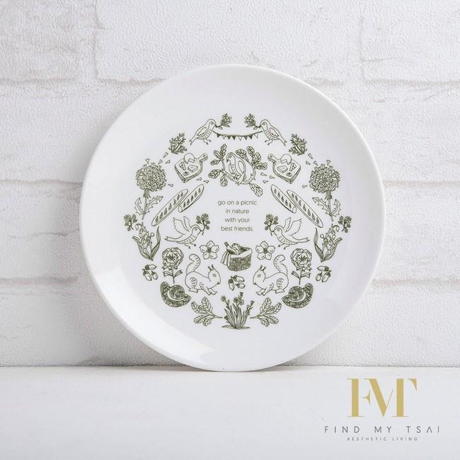FMT 單身幸福_ 松鼠與鳥 20公分圓盤