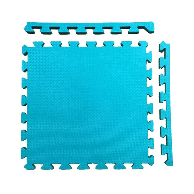 特力屋安全雙色地墊 48x48x1.4cm 4入 淺藍