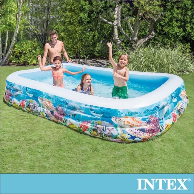 INTEX海底世界長方型特大游泳池(58485)