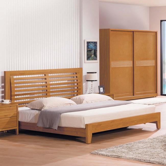 【obis】米提系列柚木色6尺床(雙人床)