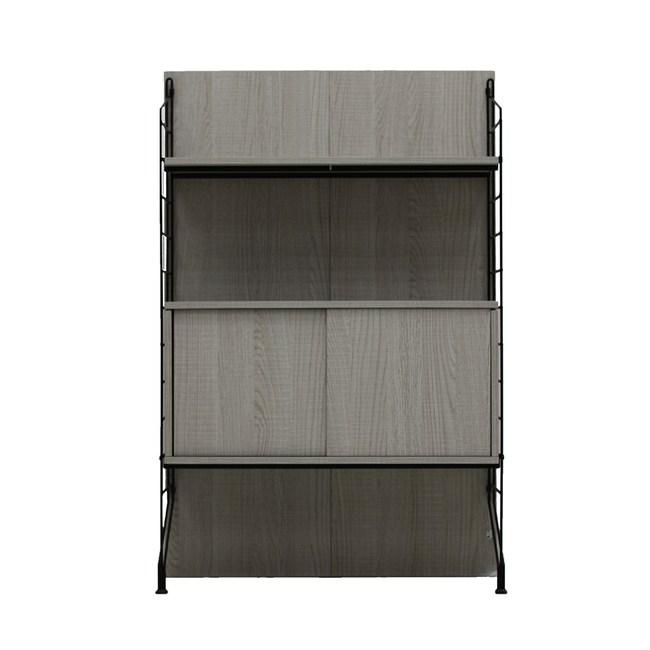 EZBO 01- 4呎推門櫃層架組W79 淺木色