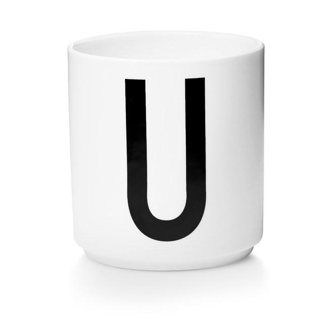 Design Letters 字母骨瓷杯白 U