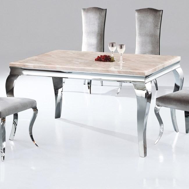 【YFS】克雷爾粉彩玉5尺餐桌150x90x75cm