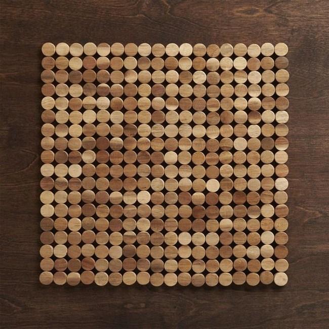 Crate&Barrel Wood 圈型餐墊