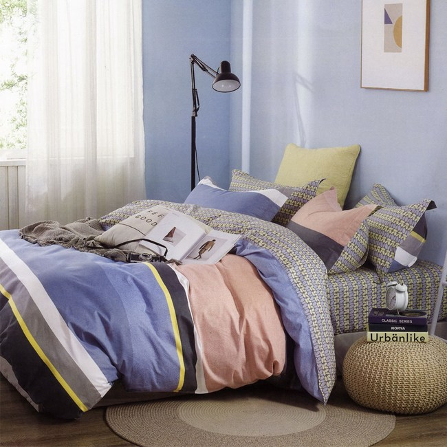 BUTTERFLY-純棉四件式被套床包組-邁阿密-紅(加大)