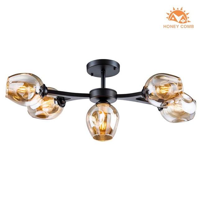 HONEY COMB 工業風半吸頂4燈 BL-20692