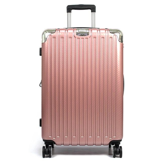 Aaronation 愛倫國度-31吋足跡世界 亮面行李箱URA-90玫瑰金