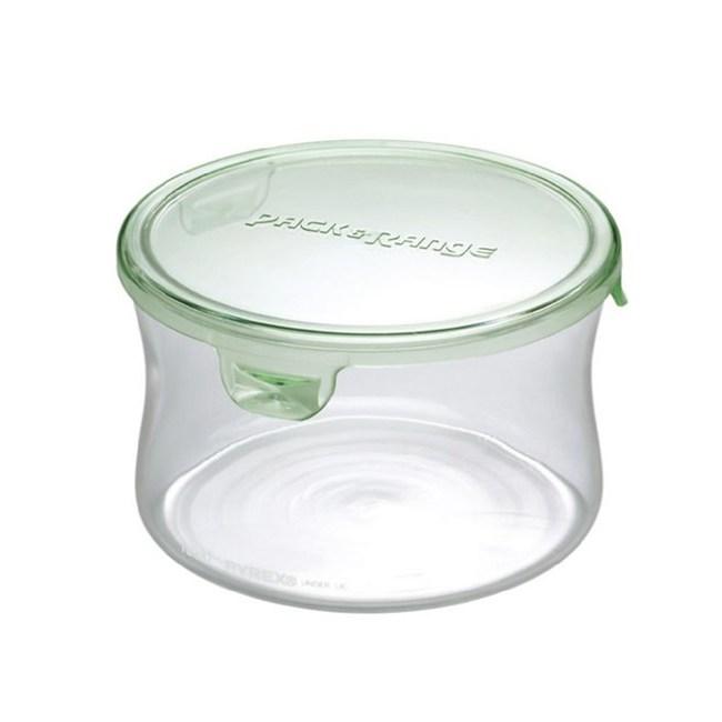 【iwaki】玻璃微波罐 490ml(圓型綠)