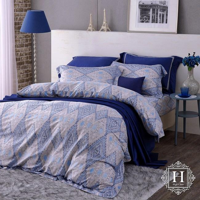 【HOYA H Series】莫雷-加大四件式400織匹馬棉被套床包組