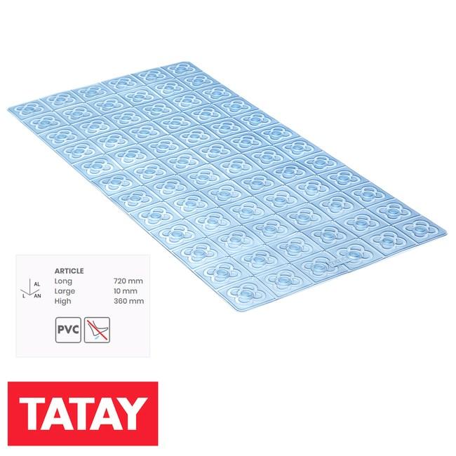 西班牙 TATAY 浴室止滑踏墊 巴塞隆納 72x36cm 藍 型號5511703